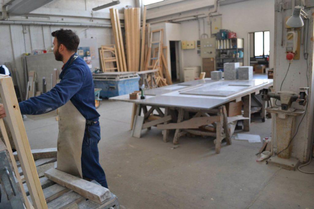 capannone lavorazioni marmo navoni